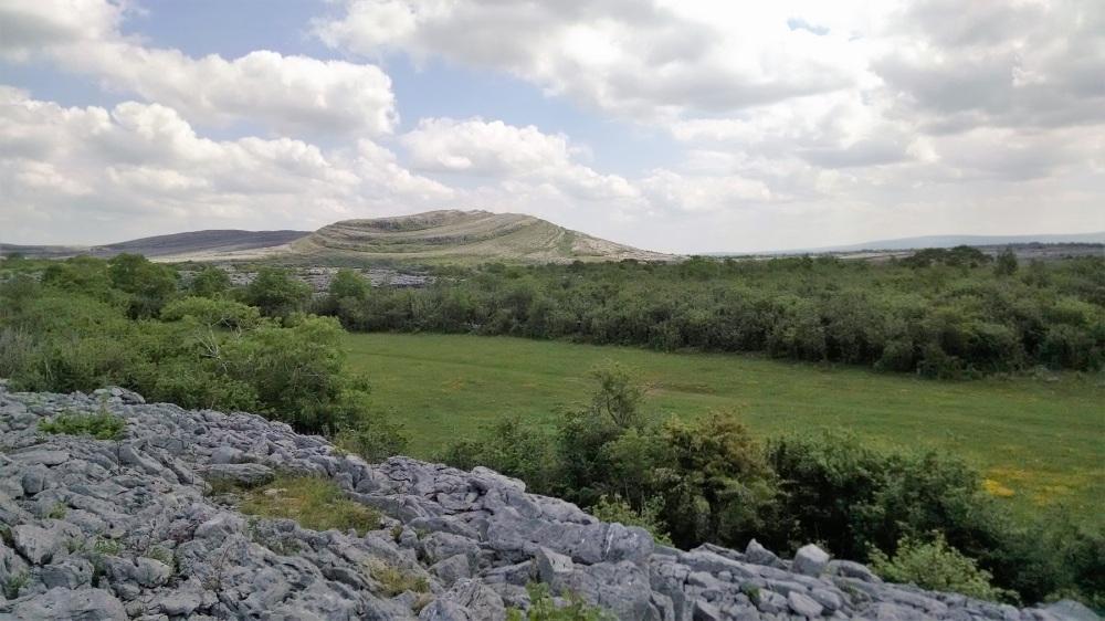 Burren national Park on rocks
