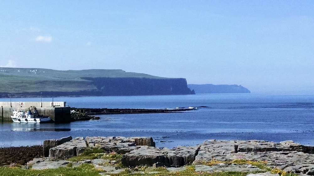 Edge of Burren with Cliffs of Moher