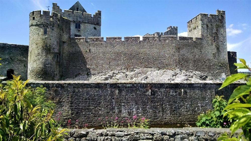 Standing in parking lot Cahir Castle